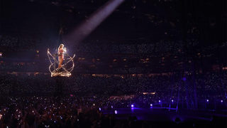 Equipment malfunction leaves Taylor Swift stuck in basket during performance