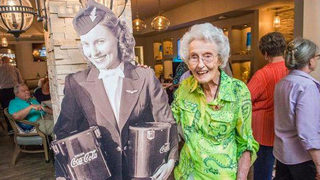Delta throws 102nd birthday bash for one of first flight attendants