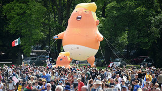 Man succeeds in campaign to bring 'Trump baby balloon