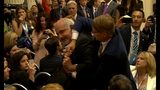 Protester Forcibly Removed From Trump-Putin Presser