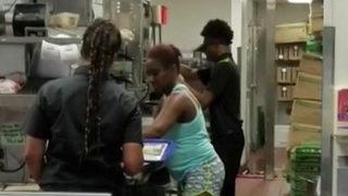 Photo: Florida Burger King customer appears to prepare food