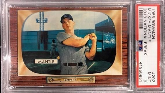 Rare 1955 Mickey Mantle Baseball Card Found In Pack Opening