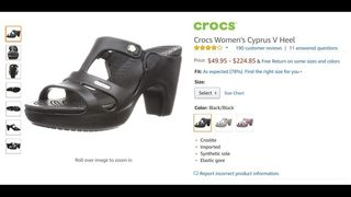 65c0589fb Crocs is selling high heeled and platform versions of its shoes on  Amazon.com and other online retailers. Amazon