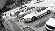 In this July 19, 2018 file frame from surveillance video released by the Pinellas County Sheriff's Office, Markeis McGlockton, far left, is shot by Michael Drejka during an altercation in the parking lot of a convenience store in Clearwater, Fla.