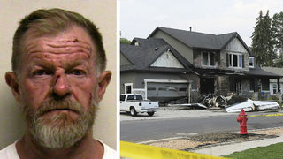 Man charged with assaulting wife crashes plane into own home hours later