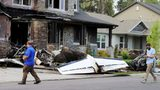 Police - Man Crashes Plane into Own Home Hours After Assaulting Wife