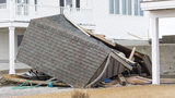 A shed in Scituate, Massachusetts was destroyed in a nor'easter in March 2018. Experts say taking photos of property before a storm hits is the best way to expedite a home insurance claim.