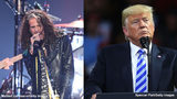 Steven Tyler (left) has sent President Donald Trump a cease-and-desist letter after Trump rally organizers played an Aerosmith song before an event. Photo: Getty Images