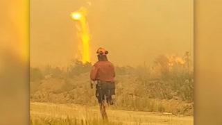 British Columbia firefighters battle massive firenado, lose when hose melts