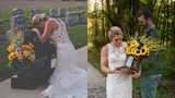 Bride Honors Fallen Firefighter Fiancé in Wedding Day Photo Shoot
