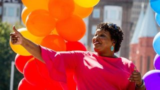 Georgia Gov. hopeful Stacey Abrams makes history at Atlanta Pride march