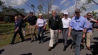 President Trump visits storm-damaged Florida, Georgia after Hurricane Michael