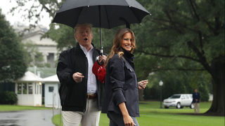 Photos: Trumps tour hurricane-ravaged Florida Panhandle