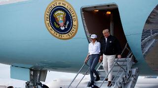 Trumps visit storm-ravaged Georgia, Florida Panhandle after Hurricane Michael