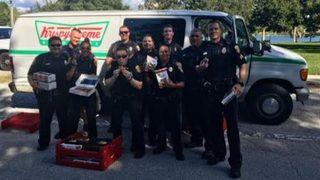 Florida cops eat donuts after finding stolen Krispy Kreme truck