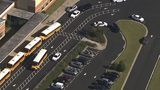 An aerial view of Trickum Middle School in Gwinnett County where a student stabbed a teacher in the chest with a butcher knife Monday afternoon.