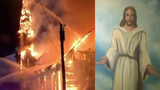 WATCH: Painting of Jesus Survives Inferno That Engulfed 150-Year-Old Church