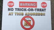 The Butts County Sheriff's Office in Jackson, Georgia, has posted 'no trick-or-treat' signs in the front of the houses of registered sex offenders in the county.