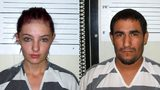 Cheyanne Harris, left, and Zachary Koehn (Chickasaw County Sheriff's Office via AP)