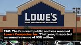Lowe's - Key Dates
