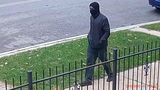 A screen shot taken from surveillance footage released by the Chicago Police Department shows a man suspected of killing Douglass Watts, 73, on Sept. 30, 2018, in the Rogers Park neighborhood where he lived.