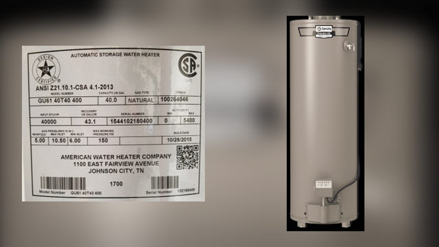 american water heater company serial number lookup