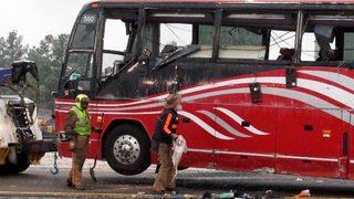 Mississippi bus crash: 2 dead, 44 hurt when tour bus flips on slick road