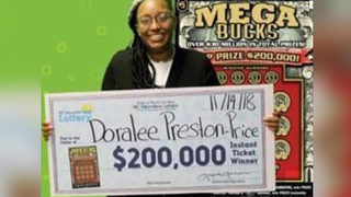 Woman who needed soap cleans up with $200K lottery win