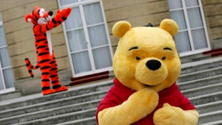 Winnie the Pooh brings smile to face of child with cerebral palsy