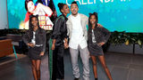 """Kim Porter (second from left), Quincy Brown (second from right), D'Lila Star Combs, and Jessie James Combs attend """"The Holiday Calendar"""" Special Screening Los Angeles at NETFLIX Icon Building on October 30, 2018 in Los Angeles, California."""