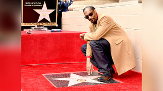 Rapper Snoop Dogg gets star on Hollywood Walk of Fame