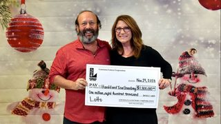 While cleaning home, Louisiana couple finds lottery ticket worth $1.8M