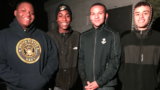 High school students (from left to right) Raesean Goodney, Marquis Bell, Jordan Parker and Abderrah Mansebbai ran into a burning building on Wednesday, Nov. 21, 2018, in Worcester, Massachusetts.