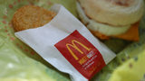 A McDonald's breakfast is shown at a restaurant in San Francisco on January 30, 2018. A Connecticut man is fighting a ticket for distracted driving, claiming that it was a hash brown that the officer spotted, not a cellphone.