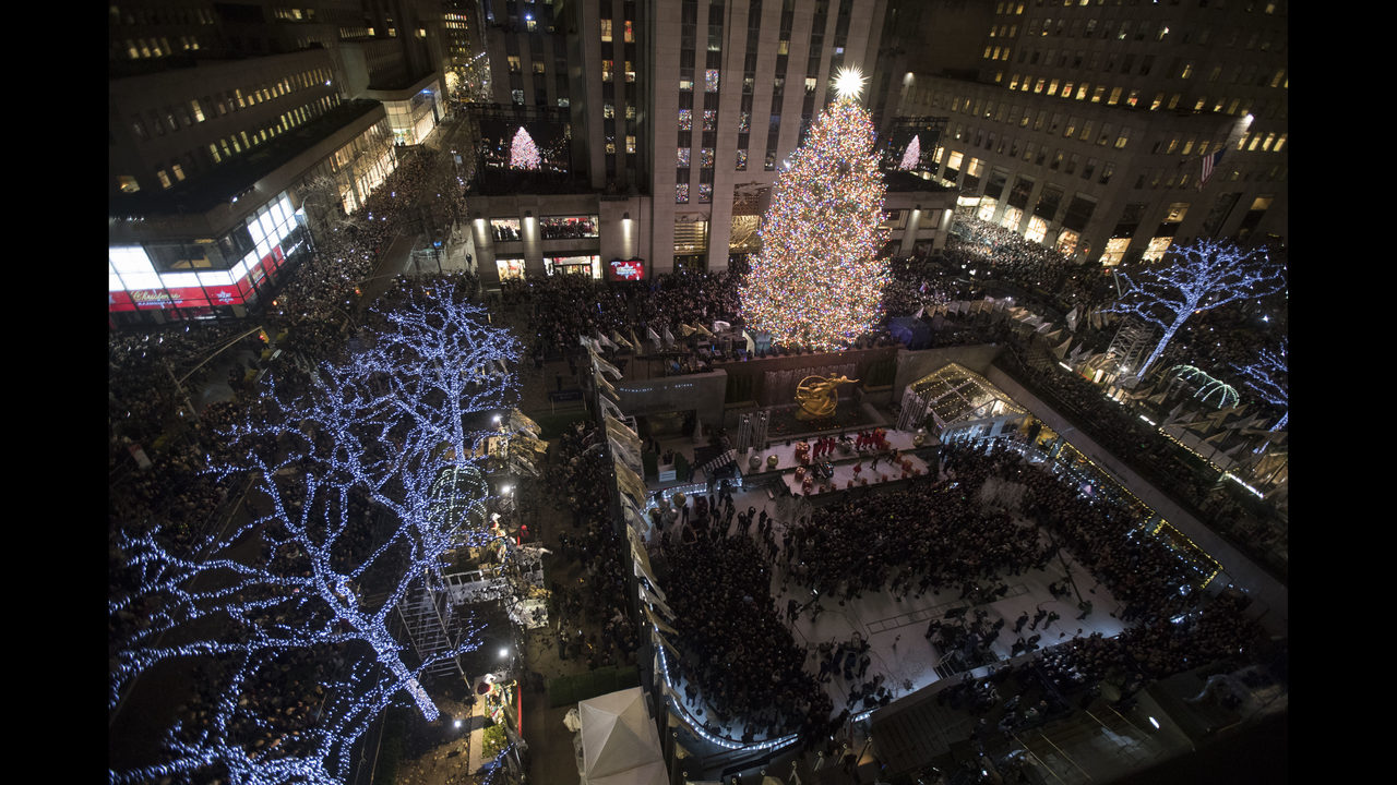 Photos: Rockefeller Center Christmas Tree Lighting 2018