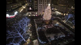 Photos: Rockefeller Center Christmas Tree Lighting 2018
