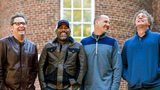 In this Nov. 16, 2018 photo, Dean Felber, from left, Darius Rucker, Jim Sonefeld, and Mark Bryan, of Hootie & the Blowfish, pose for a portrait at the University of South Carolina in Columbia, S.C.