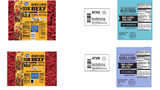 A selection of labels from beef products that are part of a nation-wide recall.