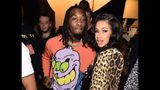 Offset and Cardi B pose backstage at the Jeremy Scott show during New York Fashion Week: The Shows at Gallery I at Spring Studios on Sept. 6, 2018, in New York City.