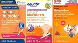 Tris Pharma Inc. is recalling three lots of infants' liquid ibuprofen sold at Walmart, CVS and Family Dollar stores.