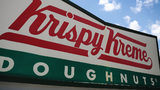 Police officers had some fun after a fire was put out on a Krispy Kreme delivery truck.