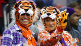 Fans wait for the start of the NCAA college football playoff championship game between Alabama and Clemson Monday, Jan. 7, 2019, in Santa Clara, Calif. David J. Phillip/AP