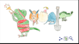 A second-grader wins Google's doodle contest. Photo: Google