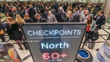 Security lines at Hartsfield-Jackson International Airport stretched more than an hour long Monday morning, causing travelers to miss flights amid the partial federal shutdown.