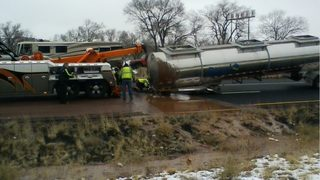 Tanker overturns, spills 3,500 gallons of liquid chocolate onto interstate