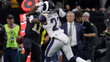 Los Angeles Rams cornerback Nickell Robey-Coleman hit New Orleans Saints wide receiver Tommylee Lewis before the pass arrived, but no pass interference was called.
