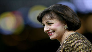 Saints owner Gayle Benson responds to fumbled interference call