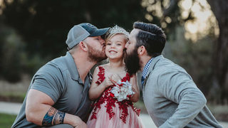 Sweet photo of girl with dad, future stepdad goes viral