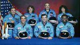 Sharon Christa Mcauliffe;Ronald E. Mcnair;Gregory Jarvis;Ellison Onizuka;Michael J. Smith;Francis R. Scobee;Judith A. Resnik Crew of Space Shuttle Challenger. (Photo by Time Life Pictures/NASA/The LIFE Picture Collection/Getty Images)
