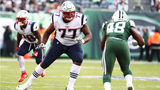 Trent Brown #77 of the New England Patriots in action against the New York Jets during their game at MetLife Stadium on November 25, 2018 in East Rutherford, New Jersey.